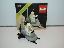 LEGO SPACE No 6801 ROCKET SLED 100% COMPLETE + INSTRUCTIONS - 1980s
