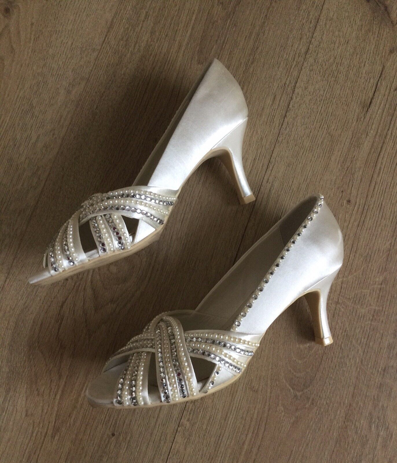 Bridal Shoes Sandals By Cinderella Slippers Uk 5 Euro 38 Wedding Day Brand New