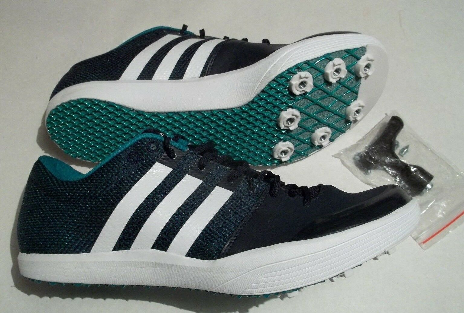 New Adidas adizero LJ2 Long Jump Track Field Shoes + Spikes & Tool  AF5648