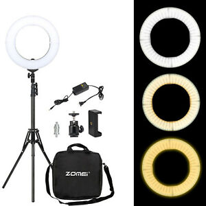 "Mon ChéRi 14"" Dimmable Led Ring Light Photography Youtube Live With Phone Clamp Ball Head Les Consommateurs D'Abord"