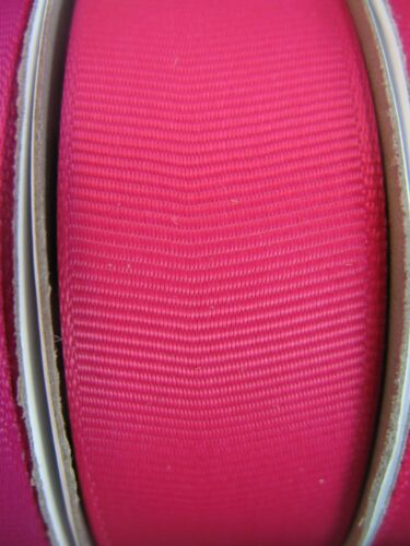 Choose 10mm or 25mm Width. Hot Pink Grosgrain Ribbon 25m in Full Reel