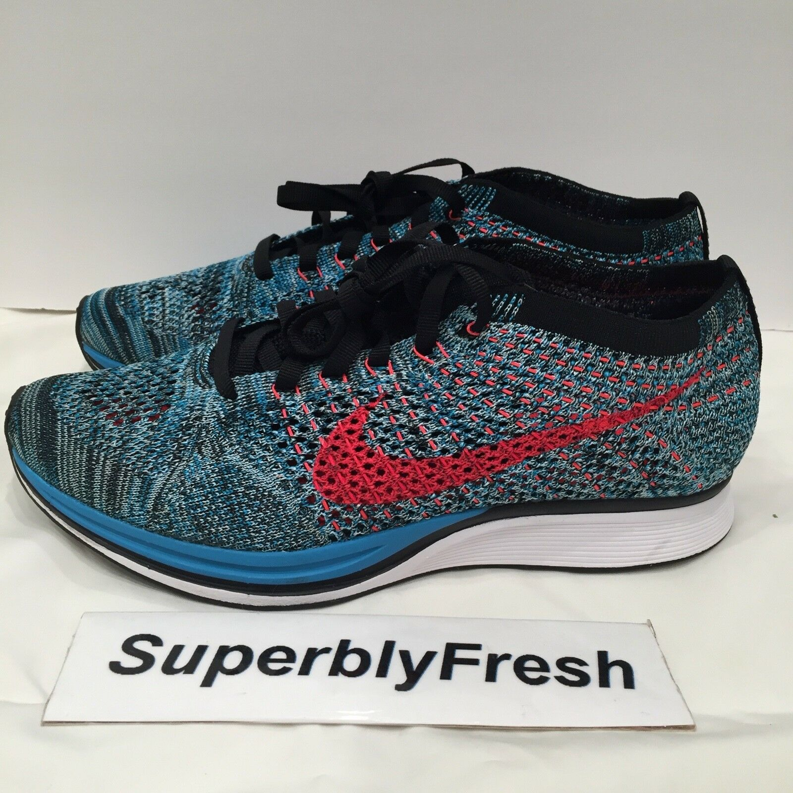 Nike Flyknit Racer Men 6 Women 7.5 526628-404 trainer mariah lunar NEW RARE