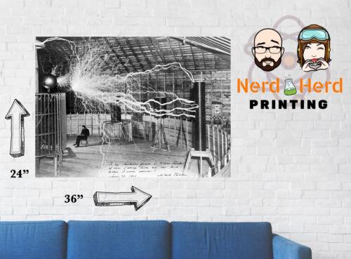 "Nikola Tesla Poster /""Inventor at Rest/"" Art Print Multiple Sizes 11x17-24x36"