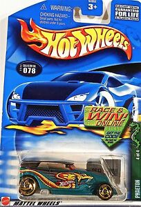 2002 HOT WHEELS /'/'COLD BLOODED/'/' #078 = PHAETON = GREEN  win