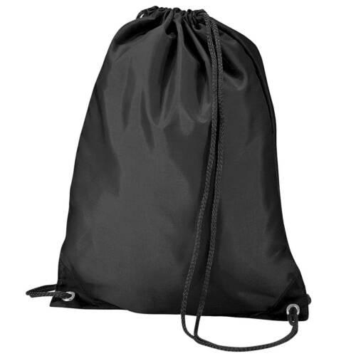 x10 Black Drawstring Gym Sports School PE Bag Bulk Buy Job Lot