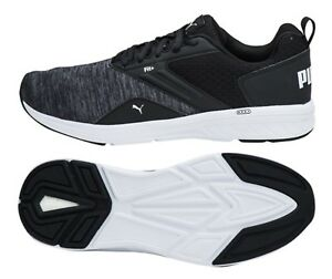 Details zu PUMA Men Nrgy Comet Soft Training Shoes Black Running Sneakers Shoe 190556 06