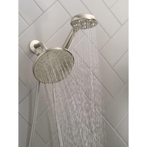 Dual Handheld Shower Head MOEN HydroRoller Massage 3-Spray 7.5 in
