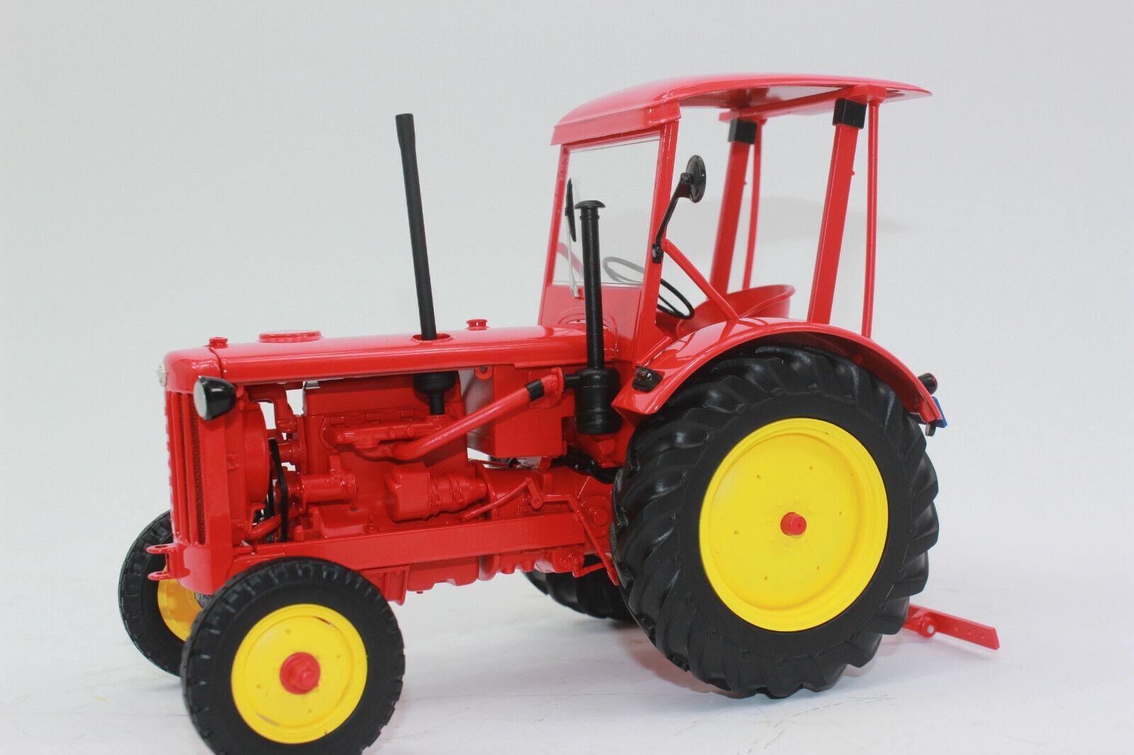 Minichamps 109153071 Hanomag R35 Tractor 1953 rouge con Techo 1 18 Nuevo
