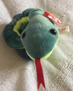 dac347c9e5e Original Ty Beanie Babies Rare  Hissy  The Snake With Errors!!