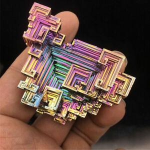 100-Natural-Titanium-Bismuth-Rare-Rainbow-Metal-Crystal-Mineral-Gemstone-Decor