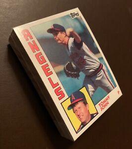 50) TOMMY JOHN California Angels 1984 Topps Baseball Card #415 LOT