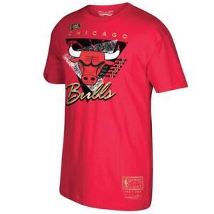 Chicago-Bulls-Mitchell-amp-Ness-Red-Hardwood-Classics-Elevated-Gold-T-Shirt