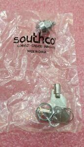 NEW Lot*2 Southco Tubular Barrel Key Cam Lock PT-1-1C109-20L-KA W two T0001 Keys