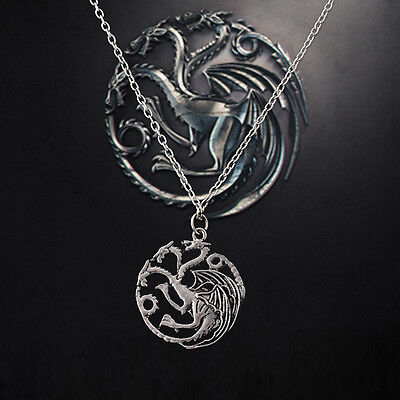 New Song Of Ice And Fire Wen Women Dragon Pendant Necklace Retro Game Of Thrones