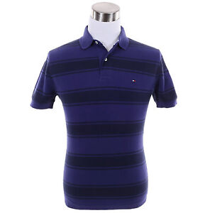 Tommy-Hilfiger-Men-Short-Sleeve-Stripe-Custom-Fit-Pique-Polo-Shirt-0-Shipping