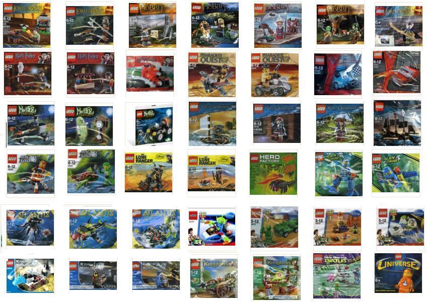 LEGO aventuriers  Harry potter; Hobbit; seigneur des anneaux; Alien; pharaon's; Caraïbes