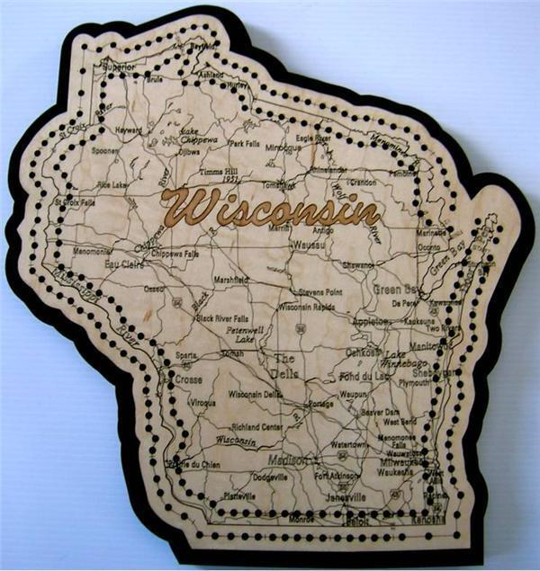 Wisconsin Cribbage Board Road Map