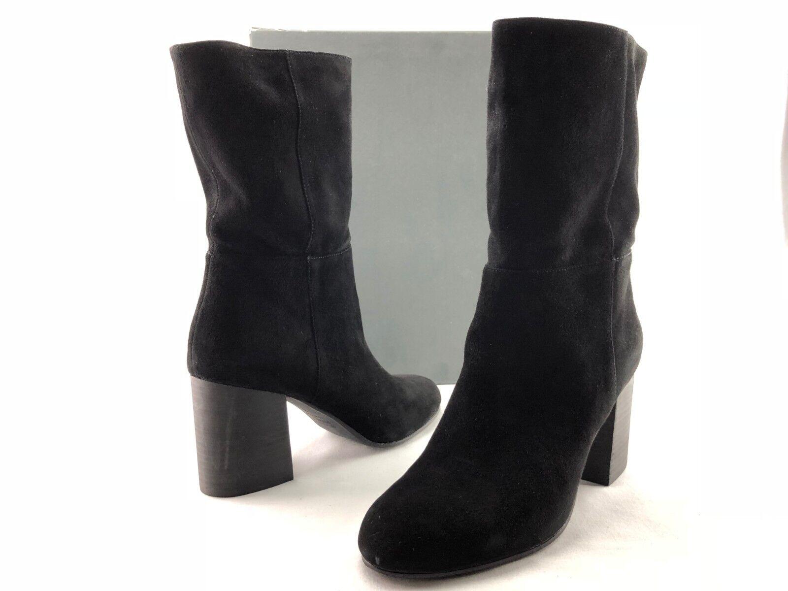 Eileen Fisher Cinch Mujer Negro Ante Mitad de Pantorrilla botas taco de bloque nos 9 M C580