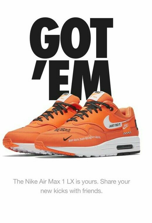 NIKE NIKE NIKE WMNS AIR MAX 1 LX FLOODED - JUST DO IT PACK  - UK 6 - BRAND NEW IN BOX 17e039
