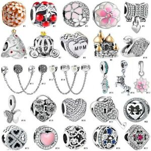 Fashion-S925-European-Silve-Charm-Beads-For-sterling-Necklace-Bracelet-Chain