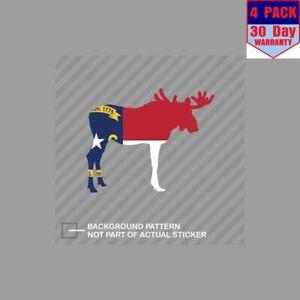 Bandera-de-Carolina-del-Norte-Alce-ELK-Senderismo-4-4x4-pulgadas-Pegatina-Calcomania-Pegatinas