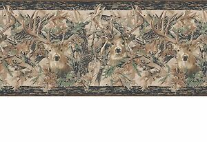 Image Is Loading Camouflage Camo Leaves With Deer Head Lodge Sure