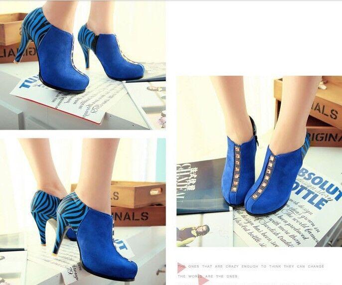 Stivaletti bottes francescine chaussures  tacco 10 cm pelle sintetica  9042 moda