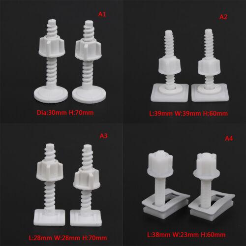 4x siège de toilette Charnière Boulons remplacement vis de fixation Kit de montage réparation fbdwtus