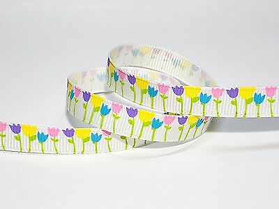 10mm Bright Tulip Grosgrain Ribbon--10yds Beneficial To Essential Medulla