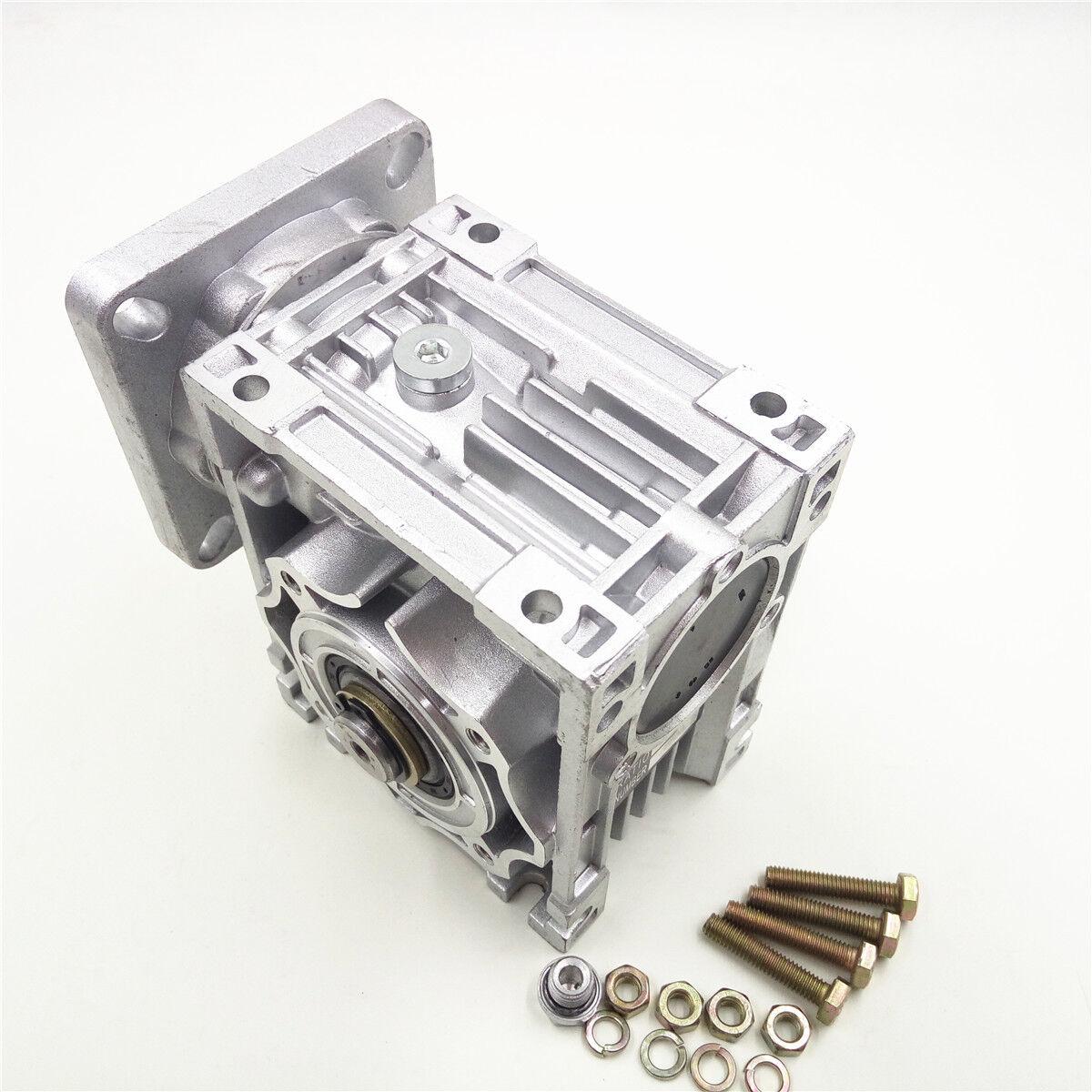 Nema34 Worm Gearbox Geared Speed Reducer 14mm Input Reduction for Stepper Motor 3
