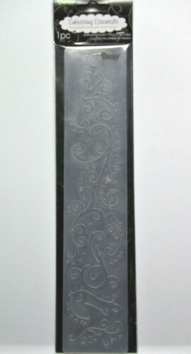 Scroll with Bird  long Embossing Folder  2-1//2  x 12 Inches Darice  NIP