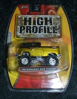 2007 Jada Toys High Profile Volkswagen Bus Pickup Gold And Black 053