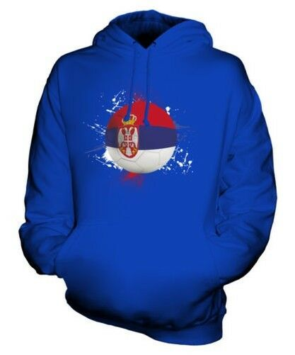 SERBIA FOOTBALL UNISEX HOODIE TOP GIFT WORLD CUP SPORT