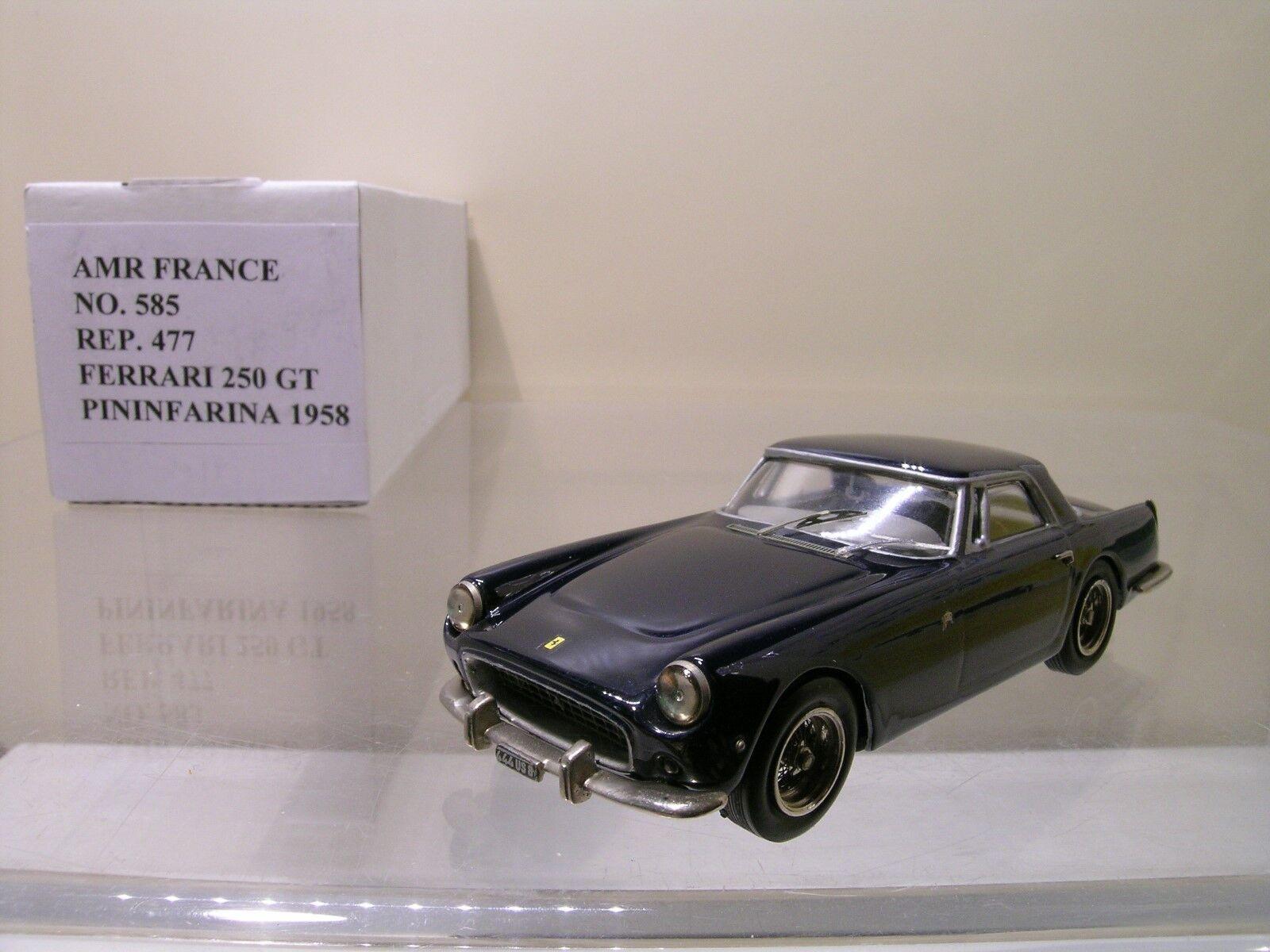 AMR FRANCE 585 FERRARI 250 GT COUPE PININFARINA 1958 blu HANDBUILT SCALE 1:43