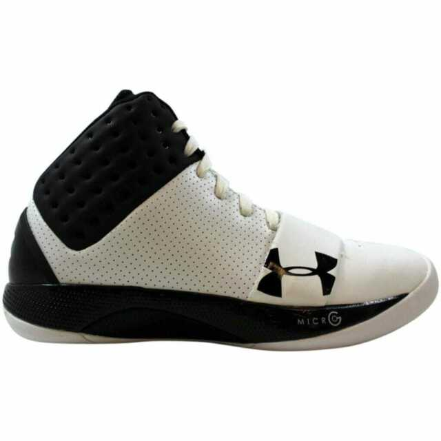 [1237731-105] Under Armour TB Micro G Funk White/Black-Silver Men's Size 7.5