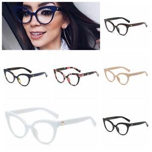 eed409efb78 Image is loading Women-Plain-Glasses-Fashion-Reading-Eyeglasses-Optical- Ultra-