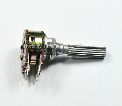 Alpha 500K OHM Dual MN-Taper Blend-Balance Potentiometer Center Click ~USA STOCK