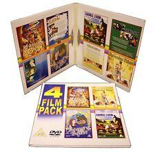 4 FILM PACK DVD ALADDIN NUTCRACKER PRINCE BEAUTY & THE BEAST ANIMAL FARM NEW
