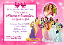 DISNEY PRINCESS CUSTOM PRINTABLE BIRTHDAY PARTY INVITATION & FREE THANK U CARD