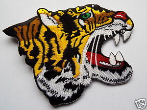 TIGERS-HEAD-Vet-Embroidered-Sew-On-Biker-patch-Trike-Custom-Cruiser-Bobber