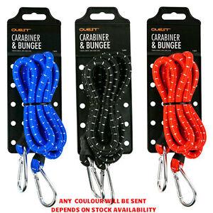 Noir Avec Blanc Fleck 6 mm bagages élastiques bungee Bretelles Sandow avec crochets