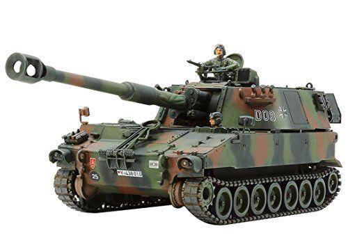TAMIYA 37022 German Bundeswehr M109A3G Self-Propelled Howitzer 1 35 Model Kit
