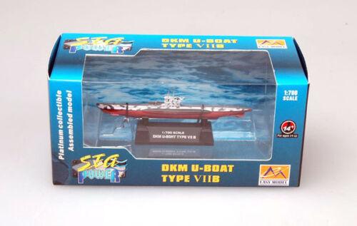 EasyModel DKM U-Boat Type VIIB VII B U-Boot Typ Fertigmodell 1:700 Marine NEU