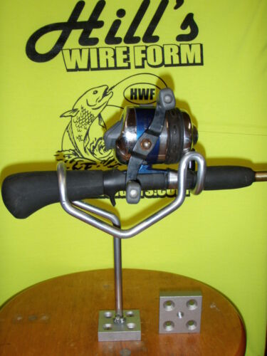 """Fishing rod holders galv coated 6/"""" stem any angle no bases left hand thread."""