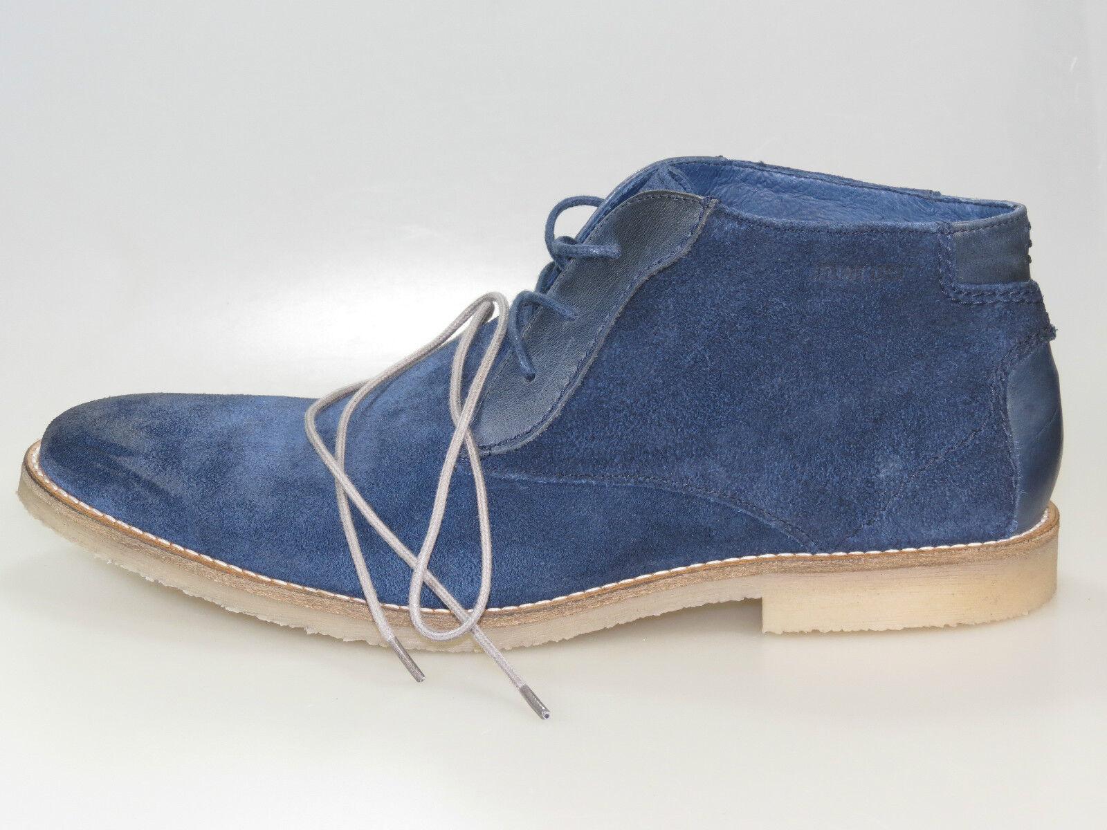 Maruti Stiefel Ponzio Men 66.20111.1071 Blau suede Leder +NEU+