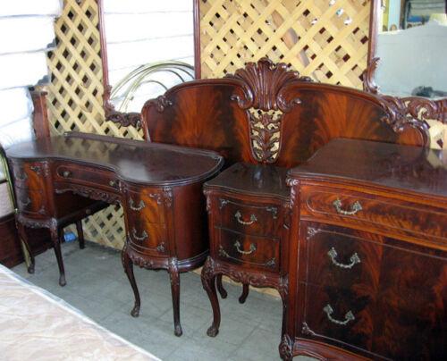 Antique Mahogany Bedroom Set - 8 Matching Pieces - 1920s -1930s - Antique Mahogany Bedroom Set - 8 Matching Pieces - 1920s -1930s EBay