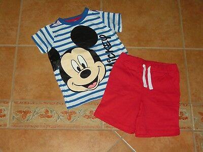 C&a 2 Tlg Set T-shirt Und Kurze Hose Mit Mickey Mouse Motiv Rot Weiß Gr 92 Einfach Zu Verwenden
