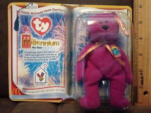 Mcdonald happy meal TY Teenie Beanie Baby  Millennium the Bear new in the box.