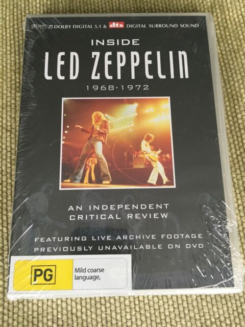 LED ZEPPELIN 'Inside Led Zeppelin 1968 - 1972' DVD STILL SEALED Plant Page