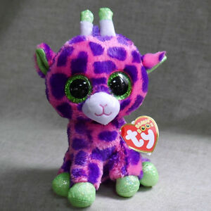 Ty Beanies Boos Giraffe Green Foot Gilbert Stuffed 6 Inches Plush
